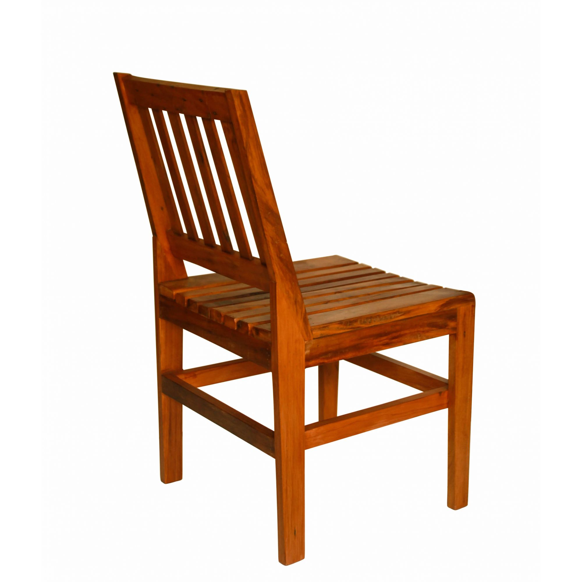 Kit 4 Cadeiras sem Braço Em Madeira de Demolição