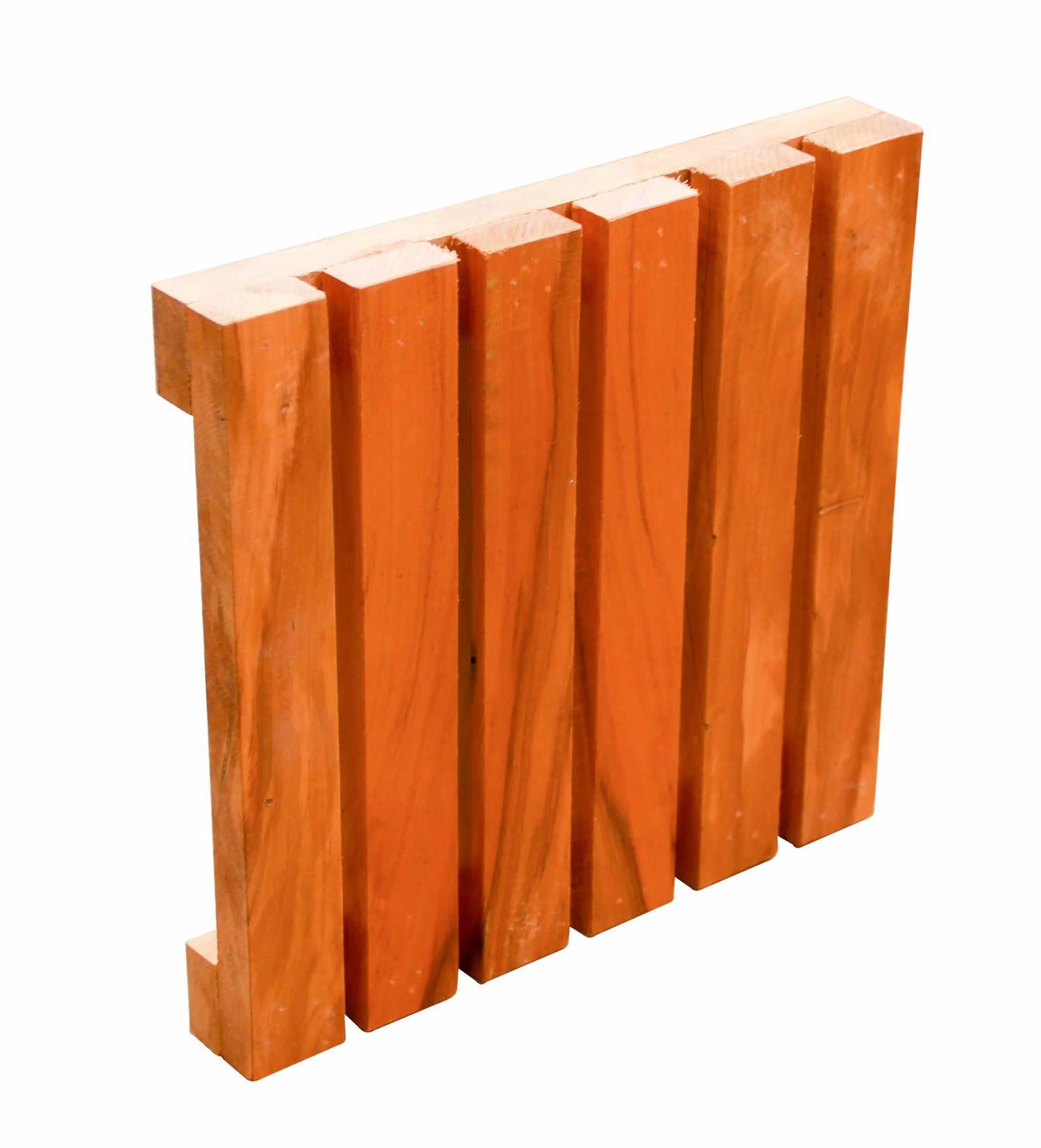 Kit 4 placas de Deck Em Madeira De Demolição Placas Modulares Madeira Maciça