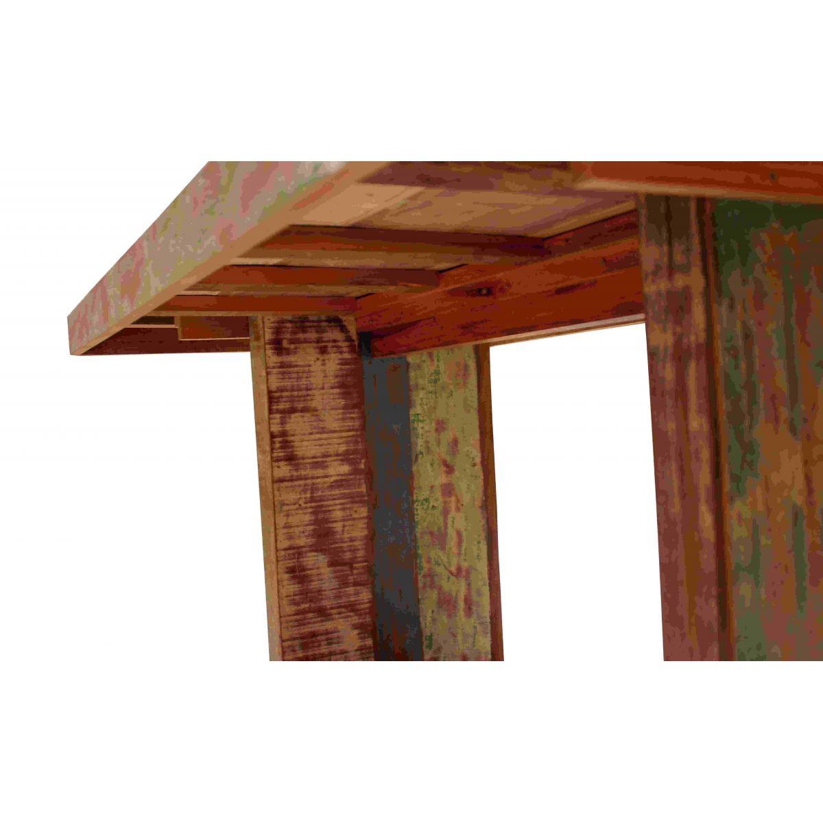 Mesa De Jantar Pés Recuados Medindo 1,80X1,00X78 Em Madeira De Demolição