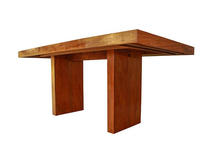 Mesa De Jantar Pés Recuados Medindo 2,00X1,00X78 Em Peroba Rosa de Demolição