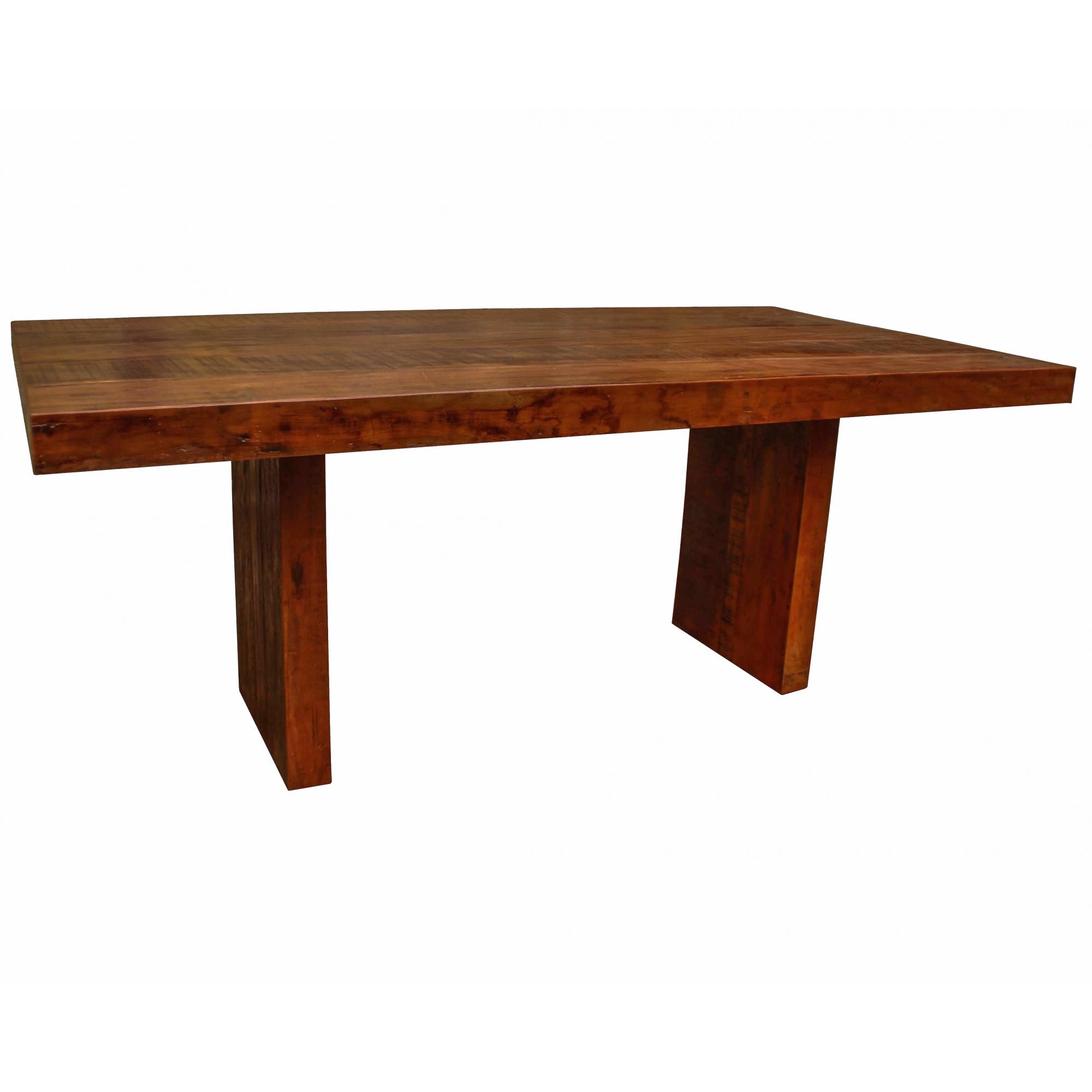Mesa de Jantar Pés Recuados Madeira Rustica 2,00x 1,00 X 0,78
