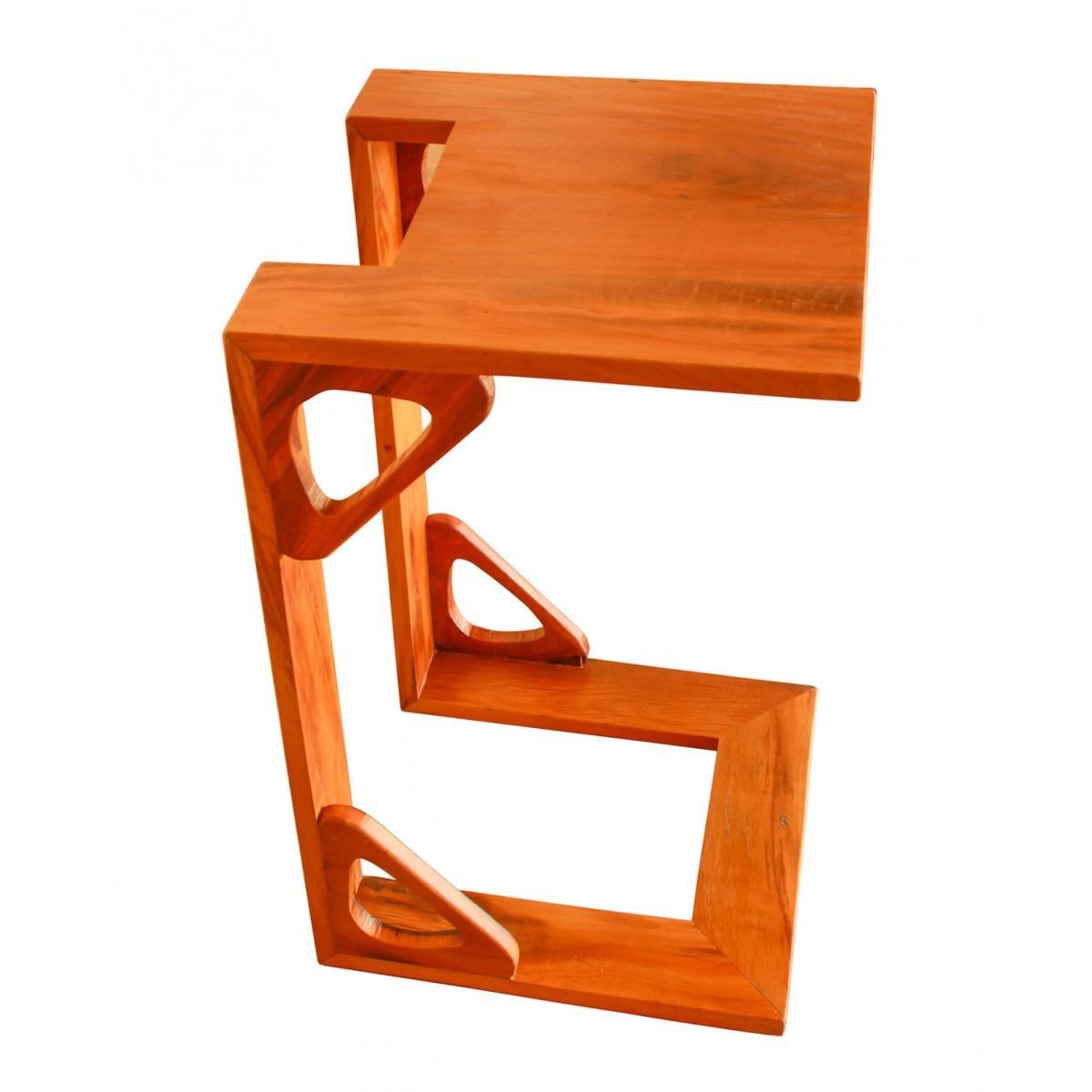 Mesa lateral moderna medindo 0,40 x 0,60 Em Madeira De Demolição