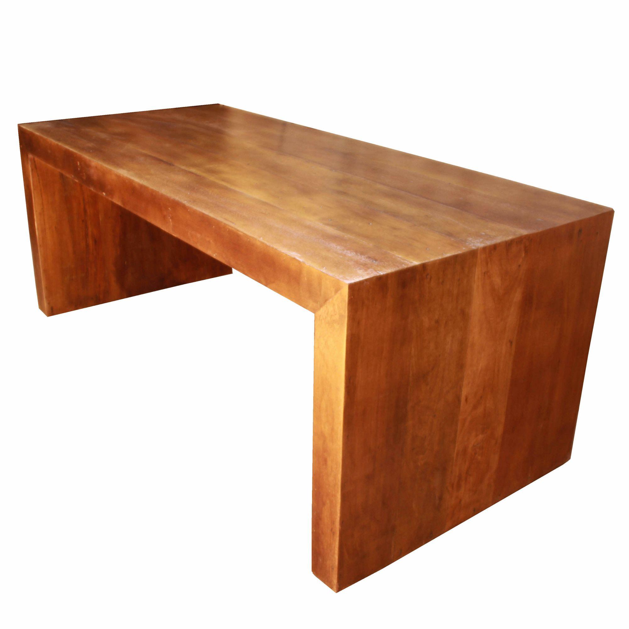Mesa modelo U 1,60x80x78 em madeira de demolição