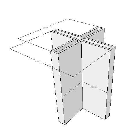 Mesa quadrada em madeira rústica de demolição pés cruzetas Medindo 1,30x1,30x78