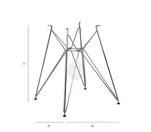 Mesa Redonda Com Tampo Em Madeira Base De Ferro Eiffel 1,20(D) x 0,78(A)