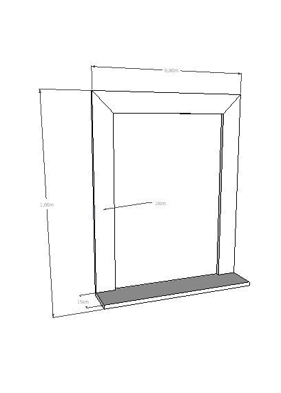 Moldura com prateleira Para Espelho Rústica Em Madeira De Demolição 0,80x60 Sem Espelho