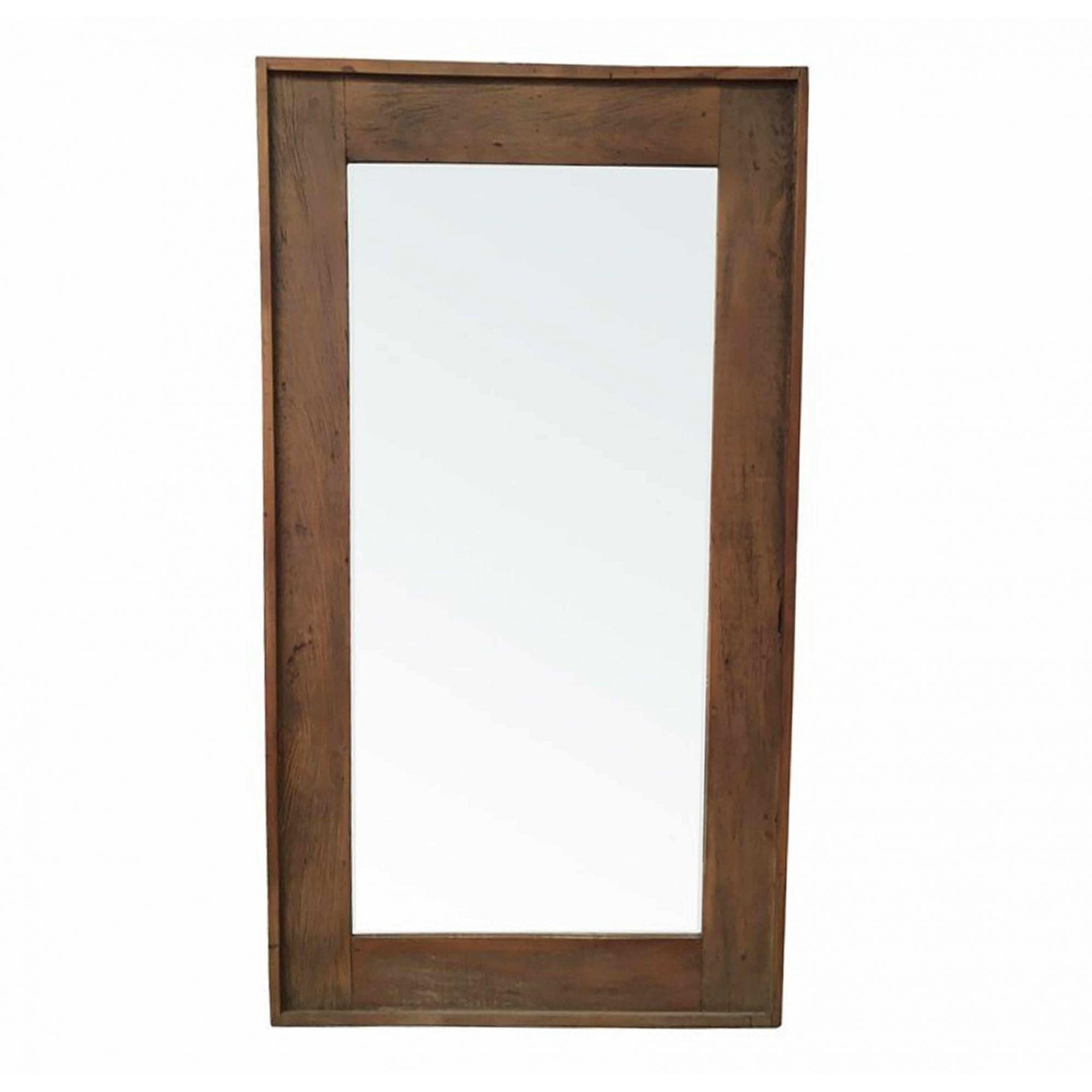 Moldura Para Espelho Rústica Em Madeira De Demolição 1,20x80 Sem Espelho