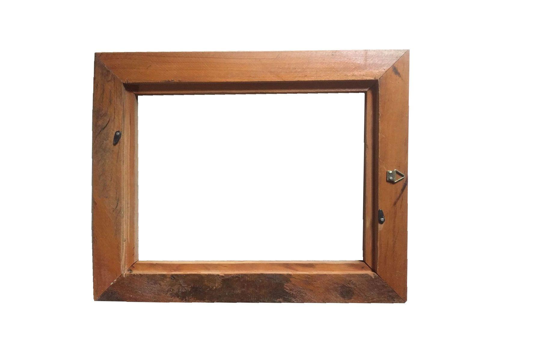 Moldura Rústica Quadro/certificado A4 (21x30cm) C/ Vidro