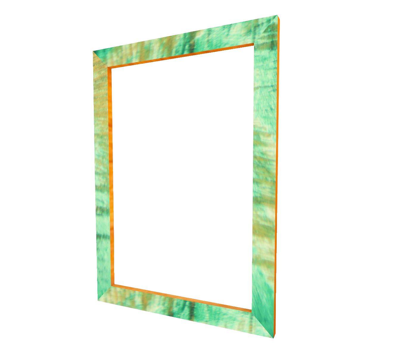 Moldura Verde Patinada A4 Certificado 21x30 Com Vidro