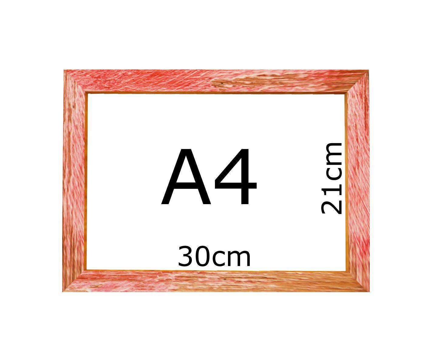 Moldura Vermelha A4 Certificado Diploma Foto Poster Com Vidro