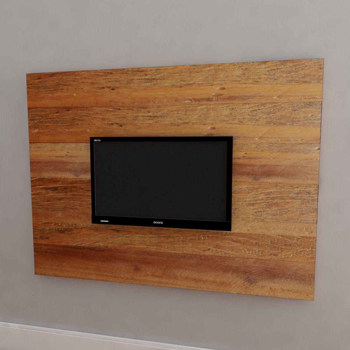 Painel Com Prateleira Para TV Em Madeira De Demolição Medindo 1,40 X 1,00