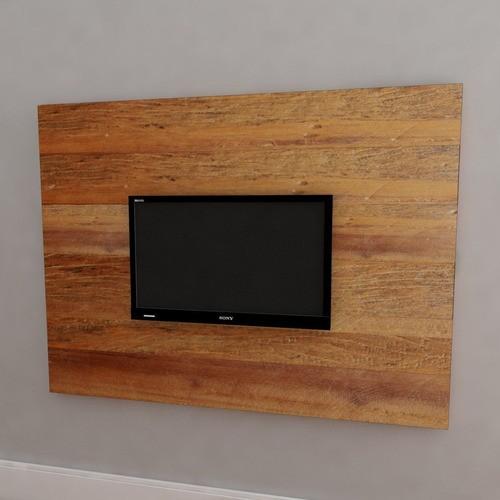 Painel Tv 1,36m X 0,90m Fabricado Em Madeira De Demolição