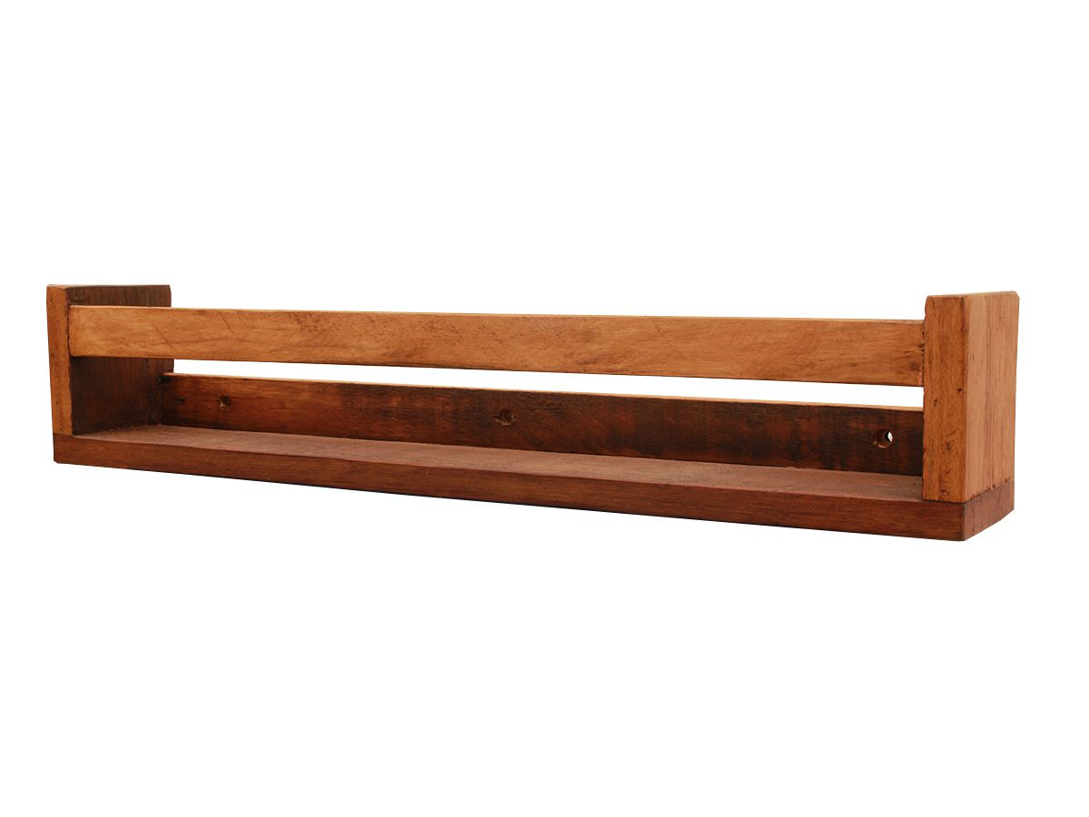 Prateleira de Parede Para Livros 60x10x12cm Fabricada em Madeira de Demolição