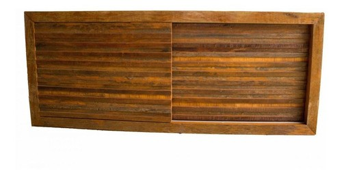 Rack Em Madeira De Demolição 1,80x40x60 2 Portas De Correr
