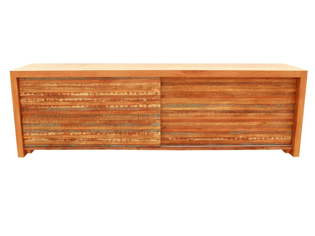 Rack Porta de Correr Ripinha Em Madeira De Demolição  2,00x40x60