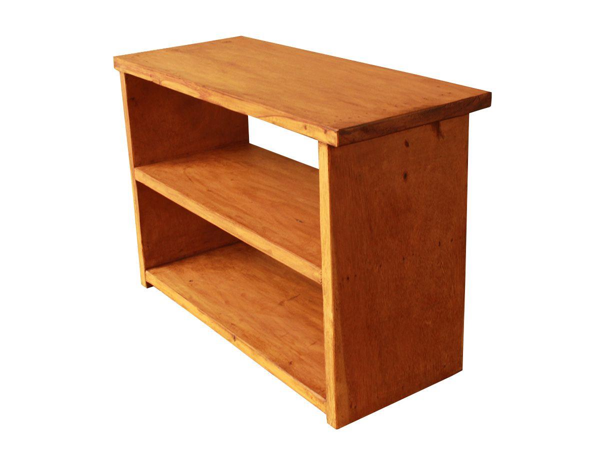 Sapateira 2 prateleiras em madeira de demolição 60x25x40