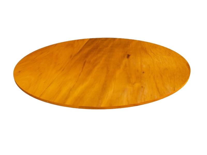 Tampo Redondo 1,10x1,10x2cm Em Madeira De Demolição