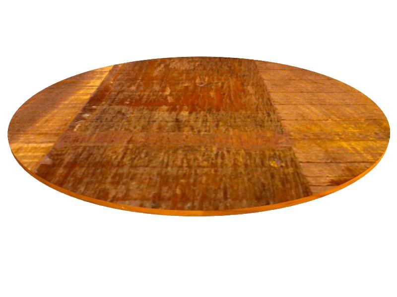 Tampo Redondo 80x80x2cm Para Mesa Madeira Demolição Peroba Rosa
