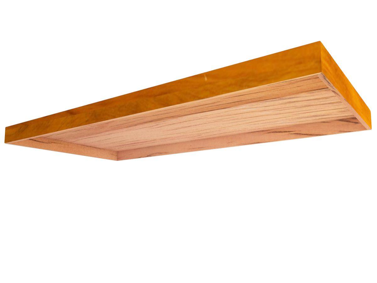 Tampo Retangular para balcão e mesa 80x40x8cm Em Madeira De Demolição