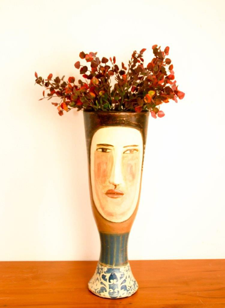 Vaso de flores de cerâmica Decorativo Artesanal frete grátis
