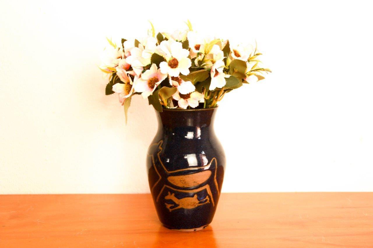Vaso para flores de cerâmica Decorativo Artesanato frete grátis
