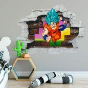Adesivo de Parede Buraco Dragon Ball Z Goku