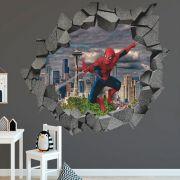 Adesivo de Parede Buraco Homem Aranha Marvel Vingador