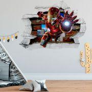 Adesivo de Parede Buraco Homem de Ferro Marvel Tony Stark