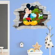 Adesivo de Parede Buraco Mickey Mouse Disney