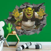 Adesivo de Parede Buraco Shrek