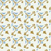 Adesivo  de Azulejo Azul Claro e Bege