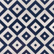 Adesivo  de Azulejo Azul Escuro e Bege
