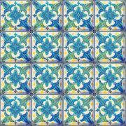 Adesivo de Azulejo Flores Azuis
