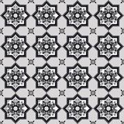 Adesivo de Azulejo Preto e Branco