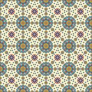 Adesivo de Azulejo Flores Verde e Amarela