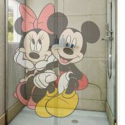 Adesivo de Box Mickey e Minnie Sentados