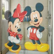Adesivo de Box Mickey e Minnie Vestido Vermelho