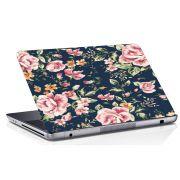 Adesivo de Notebook Flor Rosa Fundo Azul