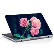 Adesivo de Notebook Flor Rosa Fundo Escuro