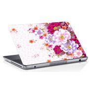 Adesivo de Notebook Floral Rosa