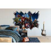 Adesivo de Parede  Buraco Vingadores Marvel Avengers