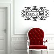 Adesivos De Parede Adesivo Decorativo De Parede Fe Deus E Fiel