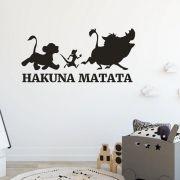 Adesivo de Parede- O Rei Leão Hakuna Matata