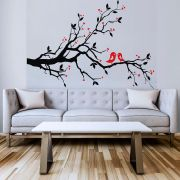 Adesivo de Parede Recorte Árvore com Pássaro