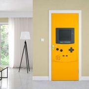 Adesivo de Porta Controle Game Amarelo
