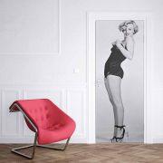 Adesivo de Porta Marilyn Monroe de Lado