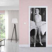 Adesivo de Porta Marilyn Monroe Vestido Branco