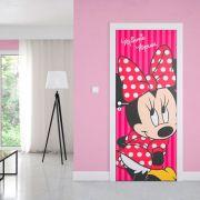 Adesivo de Porta Minnie Vestido Vermelho