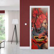 Adesivo de Porta Street Fighter Akuma