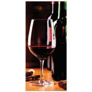Adesivo de Porta Taça de Vinho 240X110CM